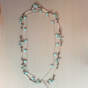 Lucky Brand mixed-media necklace. ~Like New~